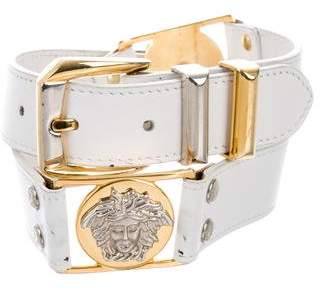 Gianni Versace Leather Chain-Link Belt