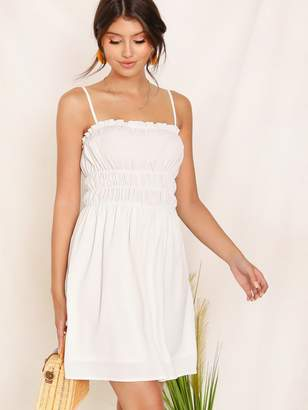 Shein Frill Trim Elastic Waist Cami Dress