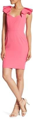 Alexia Admor Flutter Sleeve Sheath Dress