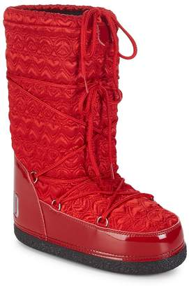 Love Moschino Women's Quilted Mid-Calf Moon Boots