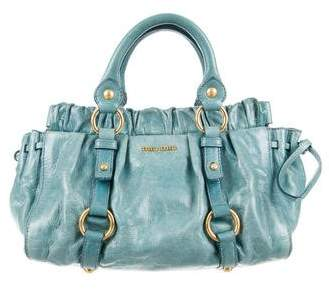Miu Miu Miu Miu Distressed Leather Handle Bag