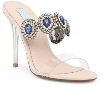 Betsey Johnson Owen Embellished Stiletto Sandal