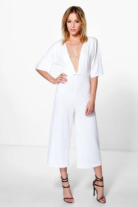 boohoo Julia Kimono Sleeve Culotte Jumpsuit