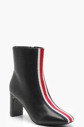 boohoo Sports Stripe Ankle Shoe Boots