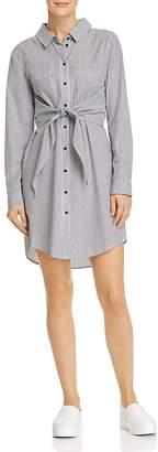 Sanctuary Striped Tie-Front Shirt Dress - 100% Exclusive