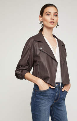 BCBGMAXAZRIA Melody Leather Biker Jacket