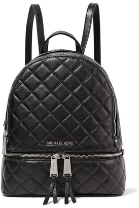 MICHAEL Michael Kors - Rhea Medium Quilted Leather Backpack - Black $360 thestylecure.com