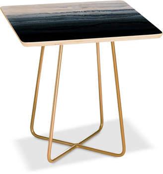 Deny Designs Monika Strigel Stormy Weather Gray Side Table