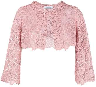 Blumarine floral lace cropped jacket