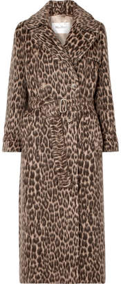 Max Mara Fiacre Leopard-print Wool-blend Trench Coat - Camel