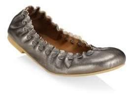 See by Chloe Jane Metallic Ballet Flats