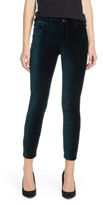 7 For All Mankind JEN7 by Stretch Velvet Ankle Skinny Jeans