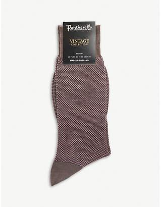 Pantherella Blenheim Birdseye wool-blend socks