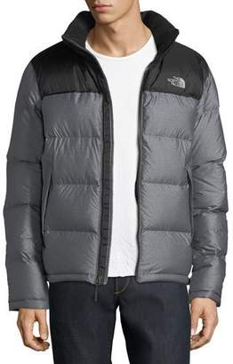 The North Face Nupste Quilted Down Jacket, Gray Heather/Black