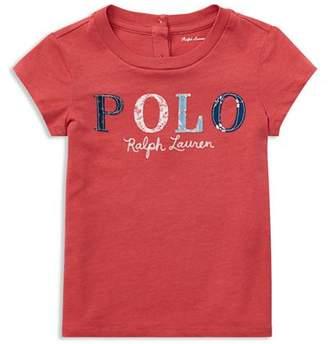 Ralph Lauren Girls' Floral Polo Jersey Tee - Baby