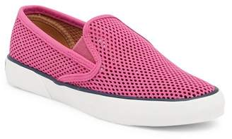 Sperry Pier Side Perforated Leather Slip-On Sneaker