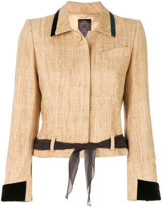 John Galliano Pre-Owned tied waist jacket