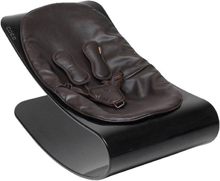 Bloom Coco Lounger - Black Plexistyle - Henna Brown Seat Pad