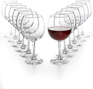 Martha Stewart Collection Essentials 12-Pc. Red Wine Glasses Set, Created for Macy's