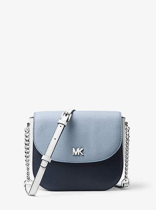Michael Kors Mott Color-Block Leather Dome Crossbody