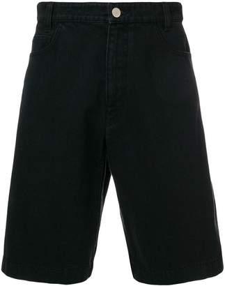Raf Simons replicants print denim shorts