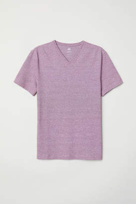 H&M V-neck T-shirt Slim fit - Red