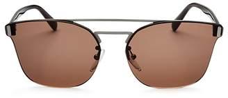 Prada Rimless Brow Bar Square Sunglasses, 58mm