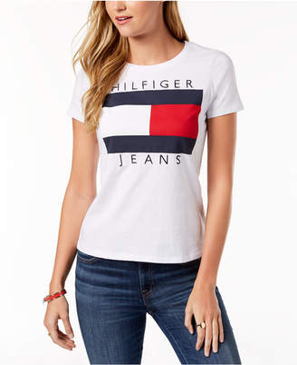 Tommy Hilfiger Cotton Embroidered Logo T-Shirt, Created for Macy's
