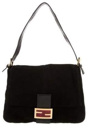 Fendi Vintage Suede Mama Forever Bag Black Vintage Suede Mama Forever Bag