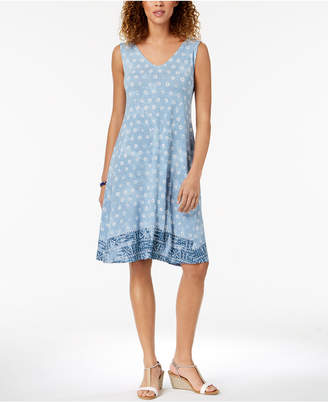 Style&Co. Style & Co Cross-Back Dress, Created for Macy's
