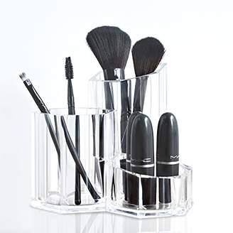 TWING Premium Acrylic Makeup Brush Holder Organizer 5.3x5.3x4.7inch