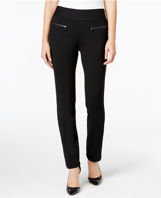 Alfani Zip-Pocket Pull-On Pants, Only at Macy's $69.50 thestylecure.com