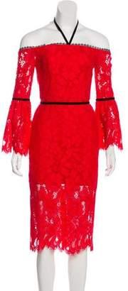 Alexis Off-The-Shoulder Knee-Length Dress
