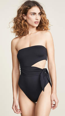 Zimmermann Juniper Scarf Cut Out One Piece Swimsuit