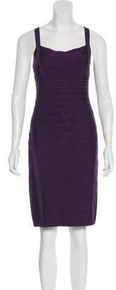 Herve Leger Knee-Length Bandage Dress