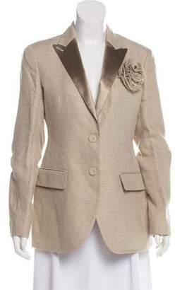 Ermanno Scervino Structured Linen Blazer