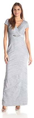 Jessica Howard Women's Cap-Sleeve Beaded Waist Dress $168.99 thestylecure.com
