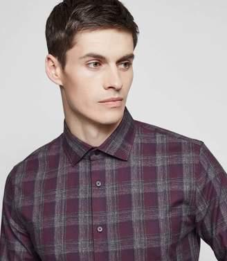 Reiss Amarvi Soft Cotton Check Shirt