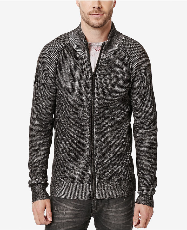 Buffalo David Bitton Buffalo David Bitton Men's Waren Knit Full-Zip Sweater