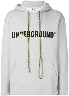 Études Underground print hoodie