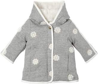 Chloé Cotton Jersey Coat W/ Faux Fur Lining