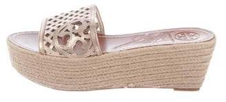 Tory Burch Metallic Slide Sandals