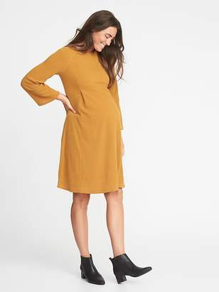 Old Navy Maternity Rib-Knit Bell-Sleeve A-Line Dress