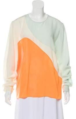 Stella McCartney Silk Colorblock Blouse