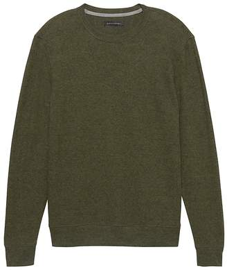 Banana Republic Waffle-Knit Crew-Neck Thermal T-Shirt