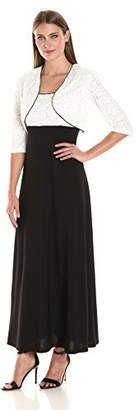 R&M Richards Women's Long Lace Jacket Dress with Sequins $38.60 thestylecure.com