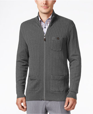 Tasso Elba Men's Big and Tall Full Zip Sweater, Only at Macy's $85 thestylecure.com