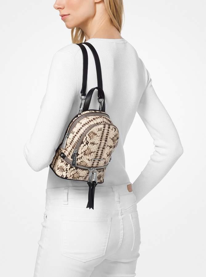 cc7cf36551b1 Michael Michael Kors Rhea Mini Snake-Embossed Leather Backpack detail image