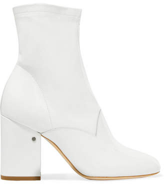 Laurence Dacade - Plume Patent-leather Ankle Boots - White $1,270 thestylecure.com