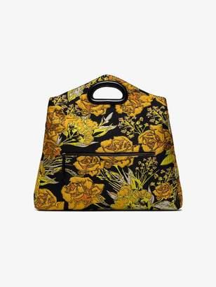 Dries Van Noten black floral oversized clutch bag